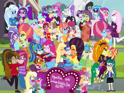 Size: 4032x3024   Tagged: safe, artist:ktd1993, character:adagio dazzle, character:applejack, character:aria blaze, character:cloudy quartz, character:cup cake, character:dean cadance, character:dinky hooves, character:dj pon-3, character:fleur-de-lis, character:fluttershy, character:gloriosa daisy, character:juniper montage, character:lily longsocks, character:meadowbrook, character:octavia melody, character:pinkie pie, character:posey shy, character:princess cadance, character:princess celestia, character:principal abacus cinch, character:queen novo, character:rarity, character:saffron masala, character:scootaloo, character:sonata dusk, character:spoiled rich, character:starlight glimmer, character:stellar flare, character:sugar belle, character:sunset shimmer, character:sweetie belle, character:tree hugger, character:trixie, character:twilight velvet, character:victoria, character:vignette valencia, character:vinyl scratch, character:wallflower blush, character:windy whistles, oc, oc:contralto, oc:cupcake slash, species:pegasus, species:pony, ship:fleurdance, ship:juniblush, ship:novolestia, ship:pinata, ship:rarijack, ship:scootabelle, ship:sunsagio, my little pony:equestria girls, afro, arixie, blushing, cinchtoria, cloudyvelvet, crush, dinkily, equestria girls-ified, female, gloriette, infidelity, kissing, lesbian, meadowshy, oc x oc, pixel pizazz, raffron, ring, shipping, smiling, spoiledcake, starhugger, stellarbelle, victoria, vignette valencia, violet blurr, windyshy