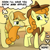 Size: 945x945   Tagged: source needed, safe, artist:megasweet, artist:rustydooks, character:braeburn, character:carrot top, character:golden harvest, ship:carrotburn, female, male, shipping, straight
