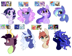 Size: 2000x1552 | Tagged: safe, artist:saphi-boo, character:big mcintosh, character:chief thunderhooves, character:dj pon-3, character:dumbbell, character:frazzle rock, character:king sombra, character:minuette, character:pipsqueak, character:princess luna, character:rainbow dash, character:silver spoon, character:spike, character:suri polomare, character:trixie, character:twilight sparkle, character:twilight sparkle (alicorn), character:vinyl scratch, character:zecora, oc, parent:big macintosh, parent:chief thunderhooves, parent:dumbbell, parent:frazzle rock, parent:king sombra, parent:minuette, parent:pipsqueak, parent:princess luna, parent:rainbow dash, parent:silver spoon, parent:spike, parent:suri polomare, parent:trixie, parent:twilight sparkle, parent:vinyl scratch, parent:zecora, parents:dumbdash, parents:twicora, species:alicorn, species:dragon, species:earth pony, species:pegasus, species:pony, species:unicorn, ship:dumbdash, bust, crack ship offspring, female, frazzletrix, gay, half-dragon, hybrid, interspecies offspring, lesbian, magical gay spawn, magical lesbian spawn, male, mare, minumare, offspring, parents:frazzletrix, parents:minumare, parents:pipmac, parents:silverluna, parents:thunderspike, parents:vinylsombra, pipmac, shipping, silverluna, simple background, straight, thunderspike, transparent background, twicora, vinylsombra, zony