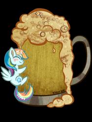 Size: 960x1280   Tagged: safe, artist:krazykari, character:rainbow dash, species:pegasus, species:pony, cider, cider dash, cute, daaaaaaaaaaaw, dashabetes, female, micro, simple background, solo, tankard, that pony sure does love cider, transparent background