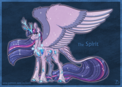 Size: 1656x1181 | Tagged: safe, artist:inuhoshi-to-darkpen, character:tree of harmony, character:treelight sparkle, character:twilight sparkle, species:alicorn, species:pony, g4, alternate universe, avatar, tree of harmony, treelight sparkle