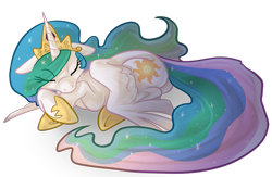 Size: 1013x660 | Tagged: source needed, safe, artist:php27, character:princess celestia, species:alicorn, species:pony, g4, cute, cutelestia, eyes closed, female, floppy ears, mare, on side, simple background, sleeping, solo, spread wings, transparent background, wings