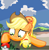 Size: 858x884   Tagged: safe, artist:sallycars, character:applejack, species:earth pony, species:pony, crossover, female, mare, ms paint, pokémon, solo