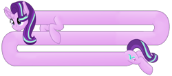 Size: 2700x1200 | Tagged: safe, artist:sevenserenity, character:starlight glimmer, species:pony, species:unicorn, female, long glimmer, long pony, meme, merchandise, redbubble, simple background, solo, transparent background