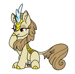 Size: 1864x1824 | Tagged: safe, artist:sevenserenity, oc, oc only, oc:mirage chaser, species:kirin, g4, boop, curious, kirin oc, self-boop, simple background, sitting, solo, transparent background