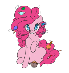 Size: 2042x2176   Tagged: safe, artist:solardoodles, character:pinkie pie, species:earth pony, species:pony, candy, smiling