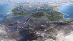 Size: 4800x2700 | Tagged: safe, artist:cmaggot, beautiful, bird's eye view, equestria, map, map of equestria, no pony, realistic, scenery, scenery porn, topographical, wallpaper