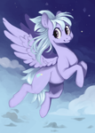 Size: 1750x2450   Tagged: safe, artist:slimeprnicess, character:cloudchaser, species:pegasus, species:pony, /mlp/, 4chan, cute, drawthread, female, flying, mare, solo