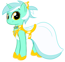 Size: 2203x2116   Tagged: safe, artist:krekka01, character:lyra heartstrings, species:pony, species:unicorn, alternate hairstyle, beautiful, choker, clothing, cute, dress, female, gala, gala dress, grin, hairclip, high res, implied bon bon, implied lesbian, implied lyrabon, implied shipping, looking at you, lyrabetes, mare, pretty mare, simple background, solo, white background