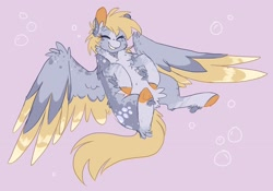 Size: 1928x1350 | Tagged: safe, artist:pretzelprince, character:derpy hooves, species:pegasus, species:pony, fluffy, solo