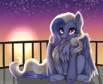 Size: 1811x1479 | Tagged: oc needed, safe, artist:pearl123_art, oc, species:pegasus, species:pony, g4, balcony, blep, cute, solo, tongue out, twilight