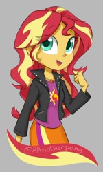 Size: 984x1643 | Tagged: safe, artist:aanotherpony, character:sunset shimmer, species:eqg human, g4, looking at you, solo