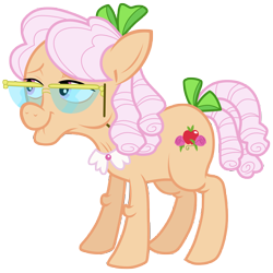 Size: 7000x7000 | Tagged: safe, artist:tardifice, character:apple rose, species:earth pony, species:pony, episode:apple family reunion, g4, my little pony: friendship is magic, absurd resolution, female, glasses, mare, simple background, smiling, solo, transparent background, vector