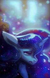 Size: 1870x2880 | Tagged: safe, artist:hierozaki, character:princess luna, species:alicorn, species:pony, g4, crying, female, sad, solo