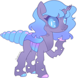 Size: 3987x4059 | Tagged: safe, artist:kurosawakuro, oc, parent:queen chrysalis, parent:starlight glimmer, species:changepony, g4, absurd resolution, hybrid, magical lesbian spawn, offspring, parents:glimmerlis, simple background, solo, transparent background