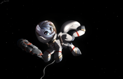 Size: 2800x1800   Tagged: safe, artist:shido-tara, artist:shidotara, oc, oc:scirocco seaspray, species:pegasus, species:pony, commission, commissioner:northerndawn, commissioner:th3bluerose, floating, floating in space, pegasus oc, rocinante, space, spaceship, spacesuit, the expanse, wings, ych result