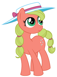 Size: 3746x5000 | Tagged: safe, artist:kooner-cz, oc, oc only, oc:maplejack, species:earth pony, species:pony, clothing, cowboys and equestrians, cute, female, hat, looking up, mad (tv series), mad magazine, maplejack, mare, simple background, smiling, solo, transparent background
