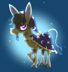 Size: 1400x1474 | Tagged: safe, artist:prince-lionel, oc, oc:yorke haggard, species:donkey, g4, commission, non-pony oc, solo, wizard