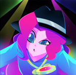 Size: 2476x2448 | Tagged: safe, artist:xan-gelx, character:pinkie pie, species:eqg human, g4, my little pony:equestria girls, bling, clothing, hat, rapper pie, solo