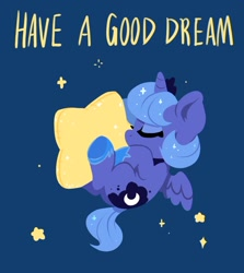 Size: 824x925 | Tagged: safe, artist:colorfulcolor233, character:princess luna, species:alicorn, species:pony, cute, solo, stars, text, woona