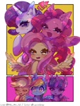 Size: 768x1024 | Tagged: safe, artist:lexiedraw, character:applejack, character:fluttershy, character:pinkie pie, character:rainbow dash, character:rarity, character:twilight sparkle, species:pony, g4, blushing, mane six, simple background, spread wings, wings