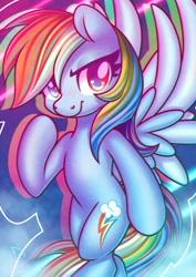 Size: 848x1200 | Tagged: safe, artist:musicfirewind, character:rainbow dash, species:pegasus, species:pony, g4, smug, solo