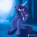 Size: 2048x2048 | Tagged: safe, artist:foxnose, character:princess luna, species:alicorn, species:pony, g4, cellphone, glowing horn, magic, raised hoof, regalia, solo