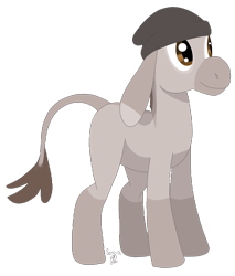 Size: 2205x2585 | Tagged: safe, artist:sanic-x, oc, oc only, oc:marble, species:donkey, g4, beanie, clothing, digital art, female, hat, simple background, solo, transparent background