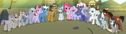 Size: 1280x347   Tagged: safe, artist:kittypaintyt, base used, character:cloudy quartz, character:double diamond, character:igneous rock pie, character:limestone pie, character:marble pie, character:maud pie, character:mudbriar, character:pinkie pie, character:pokey pierce, character:trouble shoes, oc, oc:cotton pie, oc:drinkie pie, oc:gemstone, oc:lucky stone, oc:rocknie, oc:sour rock, oc:sweet party, oc:violet quartz, parent:double diamond, parent:limestone pie, parent:marble pie, parent:maud pie, parent:mudbriar, parent:pinkie pie, parent:pokey pierce, parent:trouble shoes, parents:limediamond, parents:marbleshoes, parents:maudbriar, parents:pokeypie, species:pony, ship:maudbriar, ship:pokeypie, g4, deviantart watermark, family, female, limediamond, male, marbleshoes, next generation, obtrusive watermark, offspring, pie family, quartzrock, rock farm, shipping, straight, watermark
