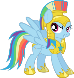 Size: 3799x4000 | Tagged: safe, artist:spaceponies, character:rainbow dash, species:pegasus, species:pony, female, hilarious in hindsight, mare, royal guard armor, simple background, solo, transparent background