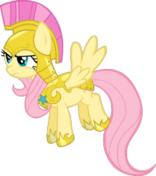 Size: 3550x4000 | Tagged: safe, artist:spaceponies, character:fluttershy, species:pegasus, species:pony, female, flutterbadass, mare, royal guard armor, simple background, solo, transparent background, war face