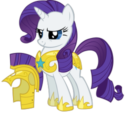 Size: 2133x2000 | Tagged: safe, artist:spaceponies, character:rarity, species:pony, species:unicorn, armor, armorarity, female, helmet, high res, hilarious in hindsight, mare, royal guard armor, royal guard rarity, simple background, solo, transparent background, vector