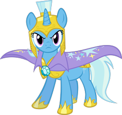 Size: 4264x4000 | Tagged: safe, artist:spaceponies, character:trixie, species:pony, species:unicorn, absurd resolution, female, looking at you, mare, royal guard armor, simple background, solo, transparent background