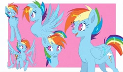 Size: 2048x1195 | Tagged: safe, artist:kyaptainkiddo, character:rainbow dash, species:pegasus, species:pony, alternate hairstyle, flying, spread wings, wings