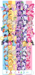 Size: 1914x4096 | Tagged: safe, artist:chub-wub, character:applejack, character:fili-second, character:fluttershy, character:li'l cheese, character:masked matter-horn, character:pinkie pie, character:radiance, character:rainbow dash, character:rarity, character:saddle rager, character:spike, character:twilight sparkle, character:twilight sparkle (alicorn), character:zapp, species:alicorn, species:crystal pony, species:dragon, species:earth pony, species:pegasus, species:pony, species:unicorn, episode:power ponies, episode:the best night ever, episode:the crystal empire, episode:the cutie map, episode:the cutie re-mark, episode:the last problem, episode:the return of harmony, episode:twilight's kingdom, g4, my little pony: friendship is magic, my little pony: the movie (2017), absurd resolution, alternate hairstyle, alternate timeline, apocalypse dash, applejack's hat, baby, baby spike, bandana, big crown thingy, captain twilight, chrysalis resistance timeline, clothing, comic book, cowboy hat, crystal war timeline, crystallized, discorded, dress, element of generosity, element of honesty, element of kindness, element of laughter, element of loyalty, element of magic, elements of harmony, equal cutie mark, equalized, eyes closed, eyeshadow, female, filly, filly applejack, filly fluttershy, filly pinkie pie, filly rainbow dash, filly rarity, filly twilight sparkle, freckles, gala dress, grin, hat, humdrum, jacket, jewelry, makeup, male, mane seven, mane six, mare, mask, mistress marevelous, night maid rarity, nightmare takeover timeline, older, older applejack, older fluttershy, older mane seven, older mane six, older pinkie pie, older rainbow dash, older rarity, older spike, older twilight, open mouth, pinkamena diane pie, pirate, pirate applejack, pirate hat, pirate rainbow dash, pirate rarity, power ponies (episode), princess twilight sparkle (episode), rainbow power, raised hoof, regalia, sad, seaponified, seapony (g4), seapony pinkie pie, shirt, smiling, species swap, timeline, tribal pie, tribalshy, unicorn twilight, vine, wall of tags, wet, wet mane, younger
