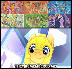 Size: 1138x1083 | Tagged: safe, edit, edited screencap, screencap, character:aloe, character:angel bunny, character:apple bloom, character:apple rose, character:applejack, character:auntie applesauce, character:autumn blaze, character:babs seed, character:berry punch, character:berryshine, character:big mcintosh, character:bon bon, character:boneless, character:bow hothoof, character:braeburn, character:bright mac, character:bulk biceps, character:burnt oak, character:capper dapperpaws, character:carrot cake, character:cattail, character:cheerilee, character:cheese sandwich, character:cherry jubilee, character:clear sky, character:cloudy quartz, character:coco pommel, character:coloratura, character:cranky doodle donkey, character:cup cake, character:daring do, character:derpy hooves, character:diamond tiara, character:discord, character:dj pon-3, character:doctor fauna, character:doctor muffin top, character:doctor whooves, character:double diamond, character:fancypants, character:featherweight, character:flam, character:flash magnus, character:flash sentry, character:flim, character:fluttershy, character:gabby, character:gallus, character:garble, character:gentle breeze, character:gilda, character:goldie delicious, character:grand pear, character:granny smith, character:gummy, character:hoity toity, character:igneous rock pie, character:iron will, character:limestone pie, character:little strongheart, character:lotus blossom, character:luster dawn, character:lyra heartstrings, character:marble pie, character:matilda, character:maud pie, character:mayor mare, character:meadowbrook, character:mistmane, character:moondancer, character:mudbriar, character:night glider, character:night light, character:nurse redheart, character:ocellus, character:octavia melody, character:opalescence, character:owlowiscious, character:party favor, character:pear butter, character:pharynx, character:photo finish, character:pinkie pie, character:pipsqueak, character:posey shy, character: