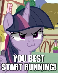 Size: 500x637 | Tagged: safe, edit, edited screencap, screencap, character:mean twilight sparkle, character:twilight sparkle, character:twilight sparkle (unicorn), species:pony, species:unicorn, g4, >:3, caption, cute, female, image macro, mare, mean twiabetes, text