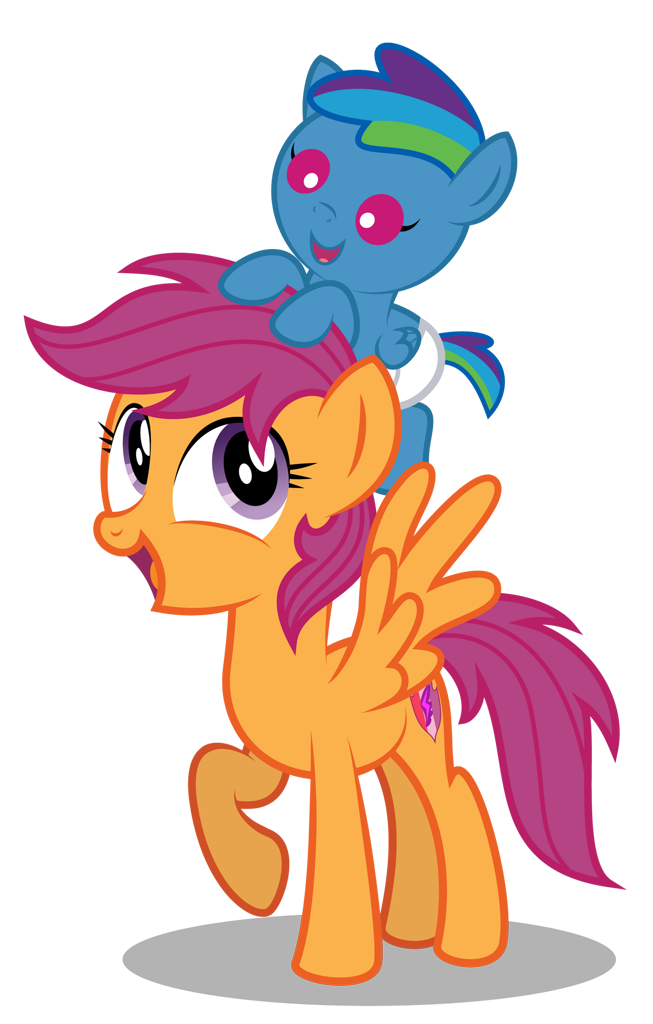 2453826 Safe Artist Aleximusprime Character Scootaloo Oc Oc Storm Streak Parent Rainbow Dash Species Pegasus Species Pony Babysitter Babysitting Colt Cute Diaper Flurry Heart S Story Foal Male Offspring Parent Oc Thunderhead Parents Friendship is magic season 7 episode: manebooru