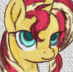 Size: 555x546 | Tagged: safe, artist:temp, character:sunset shimmer, species:pony, species:unicorn, g4, female, mare, solo