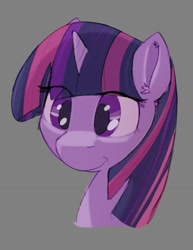 Size: 1041x1348 | Tagged: safe, artist:sp_draws, character:twilight sparkle, species:pony, g4, bust, simple background