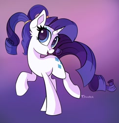Size: 1945x2000 | Tagged: safe, artist:sadtrooper, character:rarity, species:pony, species:unicorn, g4, alternate version, clothing, raised hoof, simple background, solo, twintails