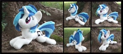 Size: 3968x1754 | Tagged: safe, artist:peruserofpieces, character:vinyl scratch, species:pony, species:unicorn, g4, collage, photo, plushie, solo