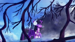 Size: 1920x1080 | Tagged: safe, artist:hierozaki, character:twilight sparkle, character:twilight sparkle (alicorn), species:alicorn, g4, beautiful, clothing, complex background, earmuffs, scarf, solo, winter