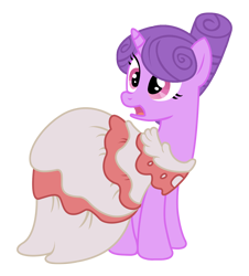 Size: 926x1024 | Tagged: safe, artist:three uncle, character:north star (g4), species:pony, species:unicorn, episode:sweet and elite, g4, my little pony: friendship is magic, clothing, dress, female, gala dress, mare, open mouth, simple background, surprised, transparent background