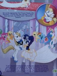 Size: 720x960 | Tagged: safe, edit, character:applejack, character:fluttershy, character:pinkie pie, character:prince blueblood, character:princess celestia, character:rainbow dash, character:rarity, character:spike, species:alicorn, species:earth pony, species:pegasus, species:pony, species:unicorn, g4, bipedal, dancing, female, french, leon, magazine, male, mare, prince vladimir, stallion, translation