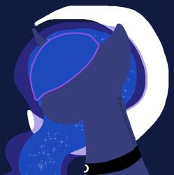 Size: 769x771   Tagged: safe, artist:northerndawnart, character:princess luna, species:alicorn, species:pony, ponytober, g4, best pony, minimalist, simple background