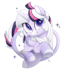 Size: 1280x1383   Tagged: safe, artist:eyesorefortheblind, oc, oc:mystic mysteries, species:alicorn, species:pony, g4, my little pony: the movie (2017), collaboration, deviantart watermark, horn, movie accurate, obtrusive watermark, simple background, solo, style emulation, transparent background, watermark, wings