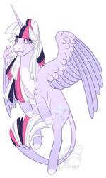 Size: 600x998   Tagged: safe, artist:pateuqe, oc, oc:mystic mysteries, species:alicorn, species:pony, alicorn oc, horn, leonine tail, solo, tail, transparent background, wings