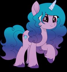 Size: 6310x6800 | Tagged: safe, artist:pumpkinpieforlife, character:izzy moonbow, species:pony, species:unicorn, g5, cutie mark, gradient mane, raised hoof, simple background, solo, transparent background, unshorn fetlocks