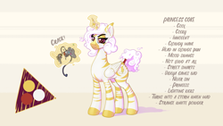 Size: 3492x1964 | Tagged: safe, artist:cocaine, oc, oc:princess coke, species:alicorn, species:pony, species:zebra, g4, alicorn oc, controller, cutie mark, horn, looking at you, magic, smiling, smirk, wings